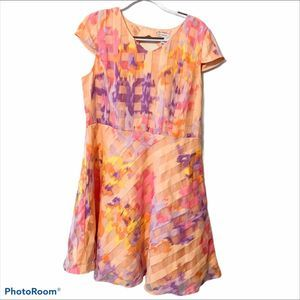 Isaac Mizrahi Live geometric keyhole midi dress